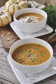 -      Pumpkin Curry Soup -      www.yourhomebasedmom.com