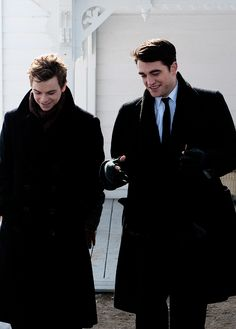 Dane Dehaan and Robert Pattinson as James Dean and Dennis Stock in LIFE