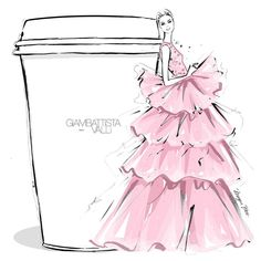 "619 Likes, 14 Comments - Megan Hess (@meganhess_official) on Instagram: ""Today my coffee needs layers and layers of pink froth from @giambattistavalliparis…"""