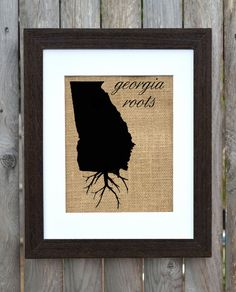 Georgia Roots Wall Art Custom Wall Art Know your by fiberandwater, $20.00