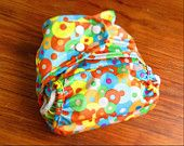 Polka Spots - Double Gusset Cloth Diaper Cover - Tuckable Diaper Cover, AI2 Diaper, Hybrid Diaper, Blue, Green, Yellow, Red, Orange