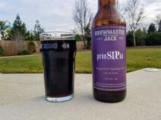 """prinSIPia - """"our take on the classic Belgian quad style. A fairly simple base of two row barley is transformed by the additions of carmelized sugar of beets and dates. A special yeast adds complex flavors of cherries, brown sugar, candied plum, biscuits and toffee."""" Brewmaster Jack, Williamsburg MA (1pt6oz, 11.5%) Jan 2018"""