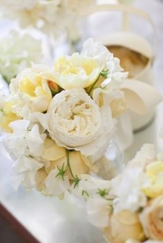 Pale Yellow Peonies
