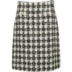 Edward Achour Paris Black-white Long Skirt ($250) ❤ liked on Polyvore featuring skirts, gris, black white skirt, long skirts, black and white skirt, white and black skirt and black and white maxi skirt