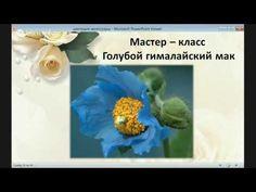 "Мастер-класс по фоамирану ""Гималайский мак"" - YouTube"