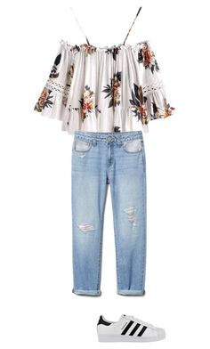 """""""Untitled #29"""" by anghel-sonia ❤ liked on Polyvore featuring adidas"""