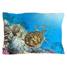 Sea Turtle Pillow Case on CafePress.com