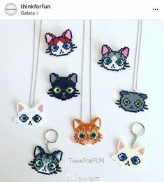 Image result for perler cat