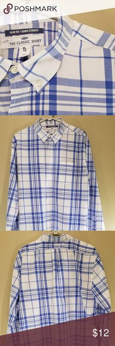 Old Navy Long Sleeve Slim Fit Button Down Great used condition! Old Navy Shirts Casual Button Down Shirts