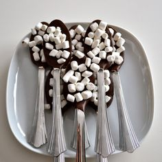 Marshmallow Chocolate Dipping Spoons by NicolesTreats on Etsy