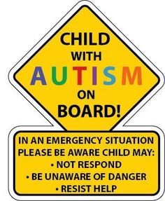 Child With Autism Car Truck Decal Sticker - FREE SHIPPING!