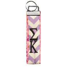 Sigma Kappa Wristlet Key Fob