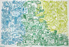 Sopa de personajes::Máscaras y Agua Dibujando durante las noches antes de dormir. Fibras de colores sobre papel. Formato 35X50 cm. Julio 2015. Things To Think About, Cool Stuff, Artist, Artwork, Chowders, Aqua, Night, Paper Envelopes, Colors