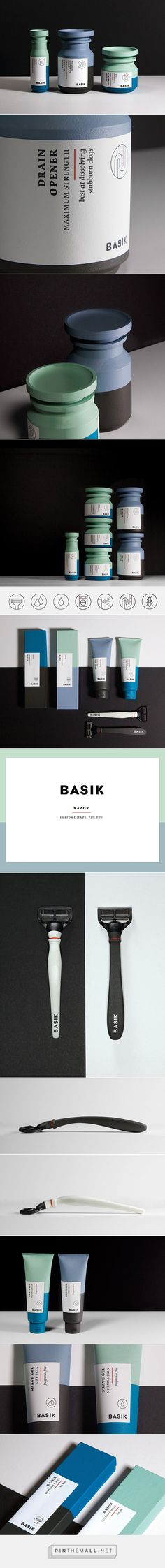 BASIK packaging designed by Saana Hellsten with gender neutral themes in mind… Bottle Packaging, Cosmetic Packaging, Beauty Packaging, Brand Packaging, Graphic Design Branding, Label Design, Package Design, Packaging Inspiration, Web Design