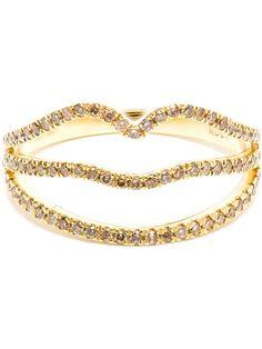 Shop ROSA DE LA CRUZ 18-karat Yellow Gold and Diamond Ring from Farfetch