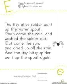 printable nursery rhymes