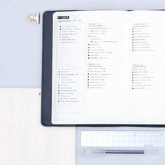 Bullet journal weekly layout, minimalist layout, monochromatic layout. @minimal.plan