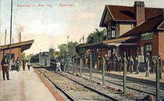 Postal de la estación Banfield, FFCC Gral Roca Rocks, Parking Lot, Buenos Aires