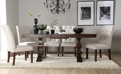 Cavendish Dark Wood Extending Dining Table