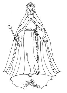 Miraculous Medal Coloring Pages, for December 8, Feast of ...