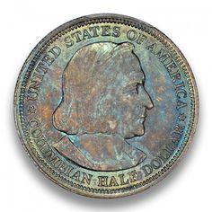 Columbian 1893 50C Silver Commemorative  PCGS MS66+ CAC #LSRC #PCGS #CAC #COLUMBIA