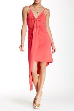 Knot Detail Asymmetrical Dress