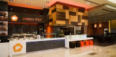 Supreme Award winner, Poppy Thai by Redesign. Retail Interior Design, Restaurant Interior Design, Thai Restaurant, Design Awards, Interior Design Inspiration, Wood Wall, Poppy, Table Decorations, Beverage