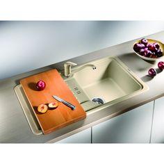 CHIUVETA DE BUCATARIE BLANCO FAVOS MINI SILGRANIT SAND REVERSIBILA INCORPORABILA - Iak Bath Caddy, Mini, Appliances, Kitchen, Home Decor, White People, Granite Counters, Gadgets, Accessories