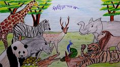 drawing zoo draw easy scenery animals drawings step simple hindi forest learn wild subject sketches mukta zoos
