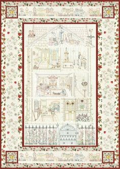 The Edwardian House Quilt - Complete Set - Click Image to Close