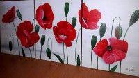 /album/moje-diela/jurovi-maky-jpg/ Flag, Album, Art, Red Flowers, Poppies, Pintura, Art Background, Kunst, Science