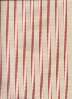 Marina Stripe in Coral color - on a soft taupe background for spring/beach blend fabric: custom window treatments (curtains, valances )