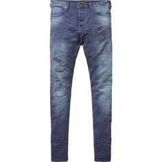 Scotch & Soda Damaged Pants - Steele ($165) ❤ liked on Polyvore