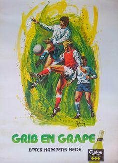 1976 Carlsberg Grape Football/Soccer  Original by OutofCopenhagen