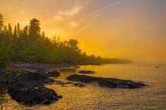 Foggy High Rock Bay Sunset   by eahackne