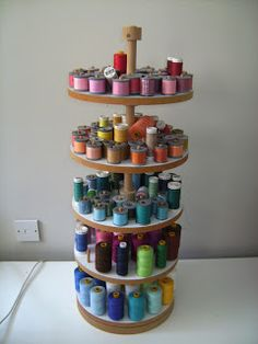 from Rosie Posies Creations spice turn rack turned thread storage