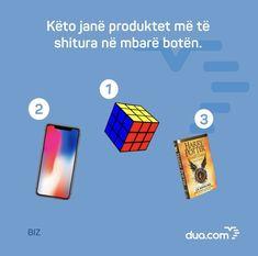 Këto janë produktet më të shitura në mbarë botën.  Sa prej juve i keni të gjitha këto produkte? #DuaBiz