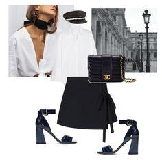 """#227"" by nataliyabodnar ❤ liked on Polyvore featuring Moschino, Stuart Weitzman, Maison Margiela and Chanel"