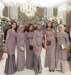 Kebaya Hijab, Kebaya Dress, Kebaya Muslim, Hijab Dress Party, Hijab Style Dress, Kebaya Modern Dress, Wedding Hijab Styles, Maroon Bridesmaid Dresses, Wedding Reception Outfit