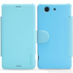 Nillkin Fresh Series Leather & Polycarbonate Flip Case Cover for Sony Xperia Z3 Compact - Blue