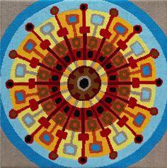 Mid-Century Sun needlepoint kit