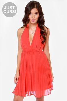 LULUS Exclusive My Marilyn Red Halter Dress at LuLus.com!. more colors