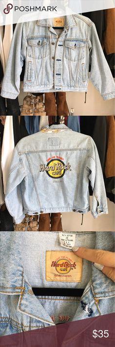 Hard Rock Denim Jacket Kids size 10 fits like adults XS-S. Vintage Jackets & Coats