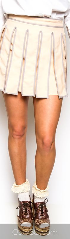 Want this Blush Kilt Mini Skirt? Shop @ cuggo.com I want the shoes!