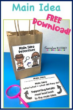 Teaching main idea and supporting details in a fun way so students can understand this comprehension skill. #guidedreading #freebies #conversationsinliteracy #comprehension #classroom #elementary #thirdgrade #secondgrade #fourthgrade #fifthgrade  #comprehensionstrategies #anchorcharts  #readinginterventions 2nd grade, 3rd grade, 4th grade, 5th grade