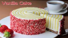 Strawberry Vanilla Cake, Moist Vanilla Cake, Glaze For Cake, Basic Cake, Chocolate Sweets, Cake Recipes From Scratch, Just Cakes, Cake Flour, Gluten Free Desserts