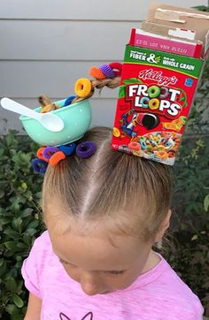 20 Crazy Hair Day Ideas for Girls in 2020 - The Trend Spotter Our collection of crazy hair day ideas includes everything from the cool to the creepy, as well as the tried-and-true styles that kids love. Crazy Hair Day Girls, Crazy Hair For Kids, Crazy Hair Day At School, Crazy Hat Day, Crazy Hats, Crazy Socks, Days For Girls, Crazy Crazy, Crazy Girls