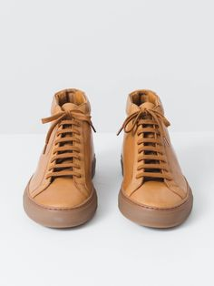 Original Tan Achilles Mid Common Projects, Italian Leather, Leather Shoes,  Ship, The 6f6fb5295e