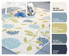 Find a rug you love and work backwards to create the perfect paint color palette.