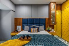Image may contain: bedroom and indoor Wardrobe Design Bedroom, Bedroom Bed Design, Home Room Design, Bedroom Furniture Design, Bed Furniture, Modern Bedroom, Bedroom Decor, Indian Bedroom Design, Classy Living Room